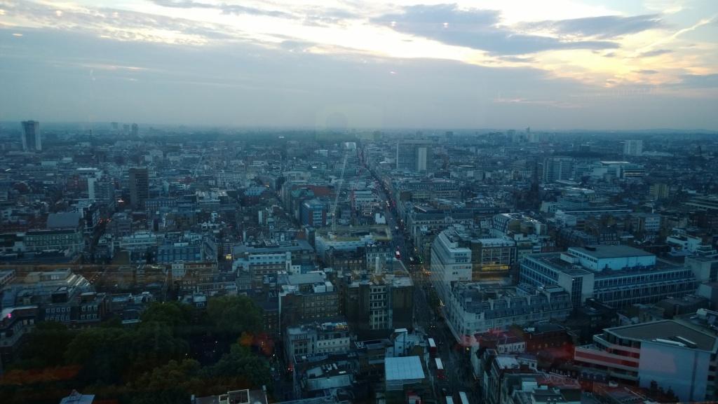 London Skyline - Taken through Glass