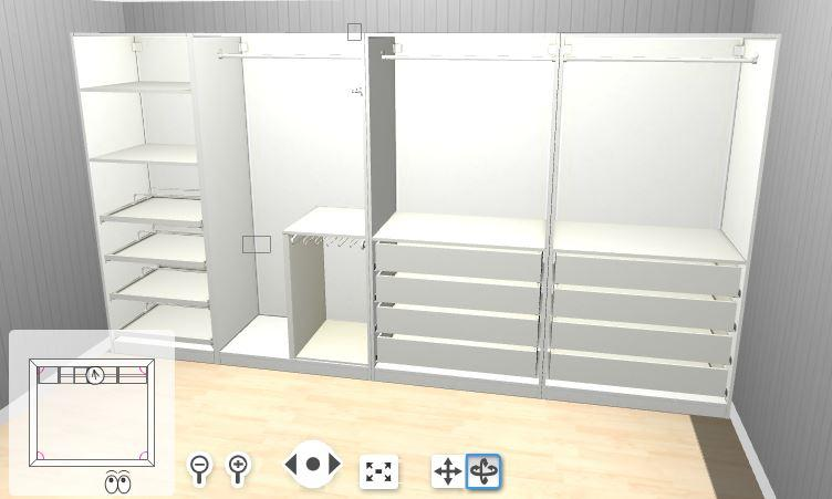 Open Plan Storage With Ikea Pax Wardrobes Kip Hakes