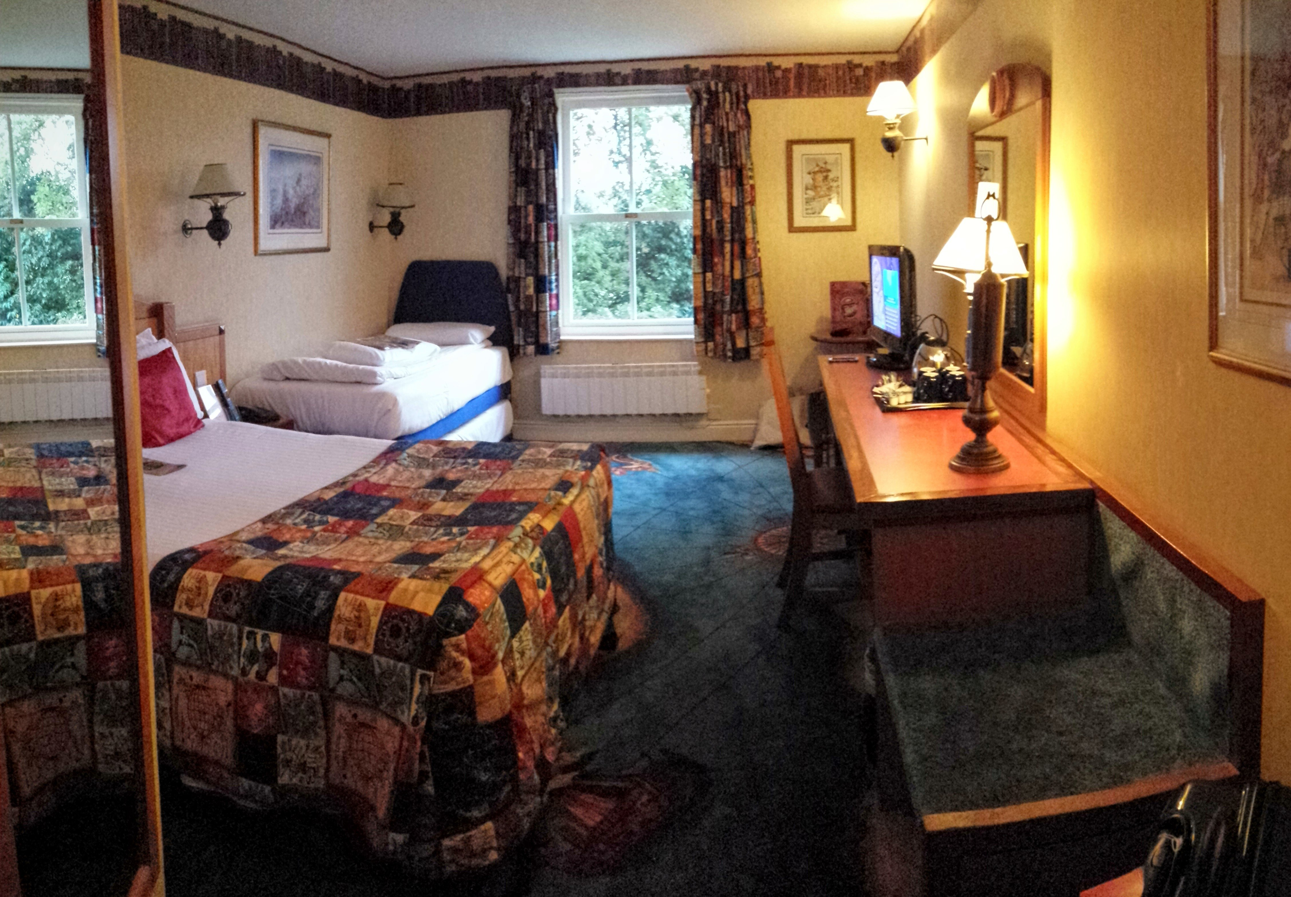 A standard room in alton towers hotel