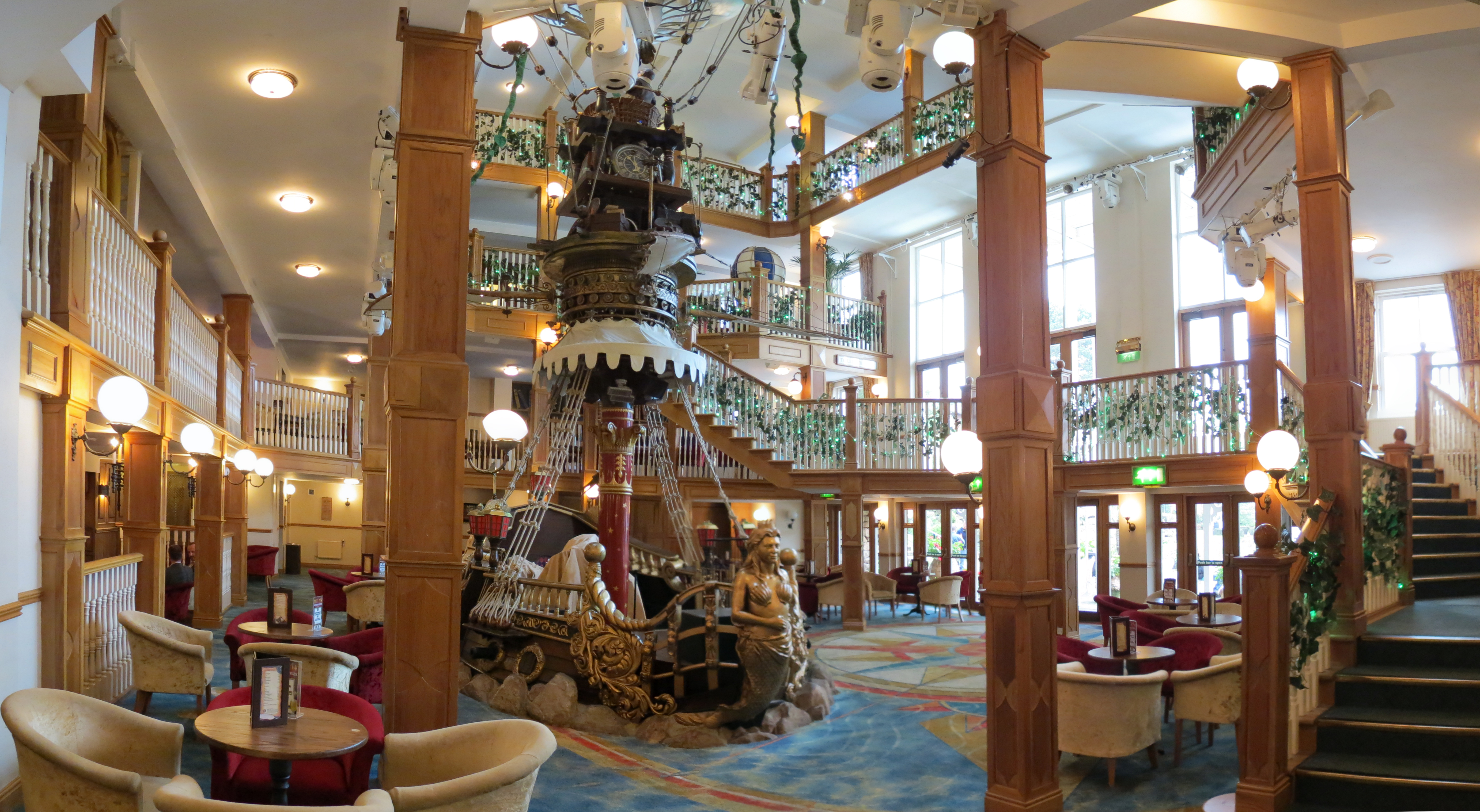 The flying ship in the alton towers hotel