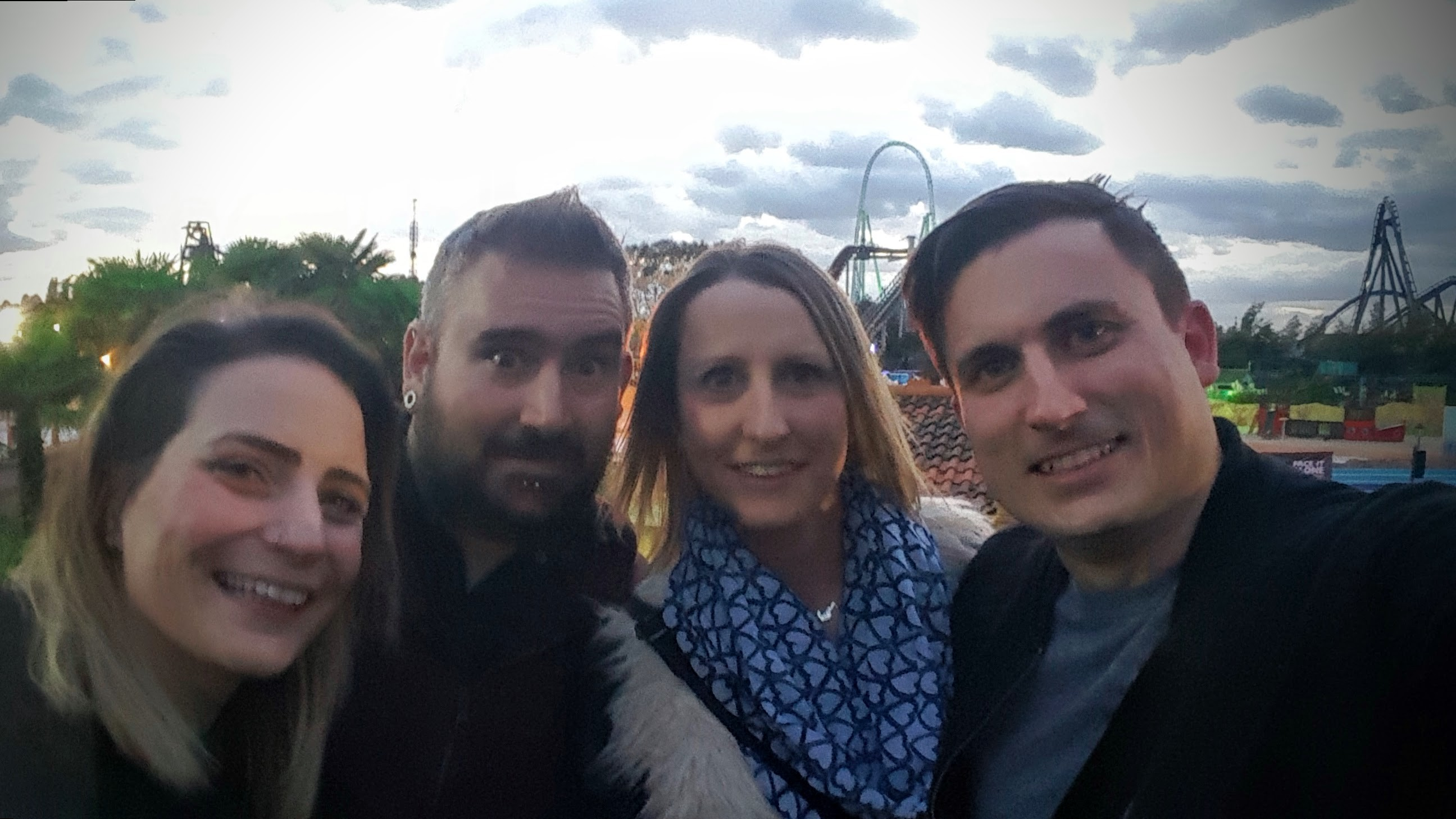 4 brave adventurers, ready to take on Thorpe Park Fright Nights 2016