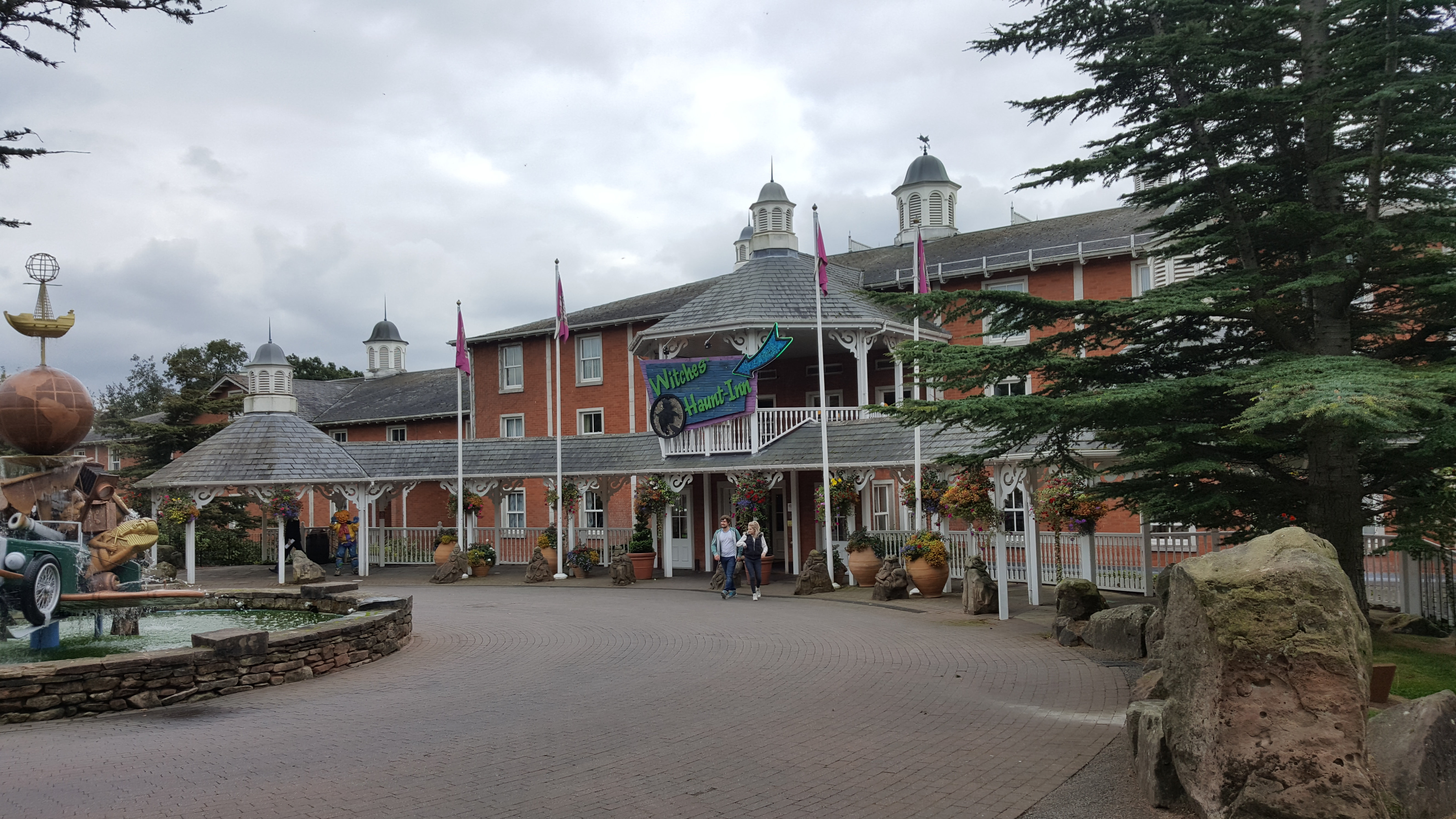 The Alton Towers Hotel themed for Halloween.