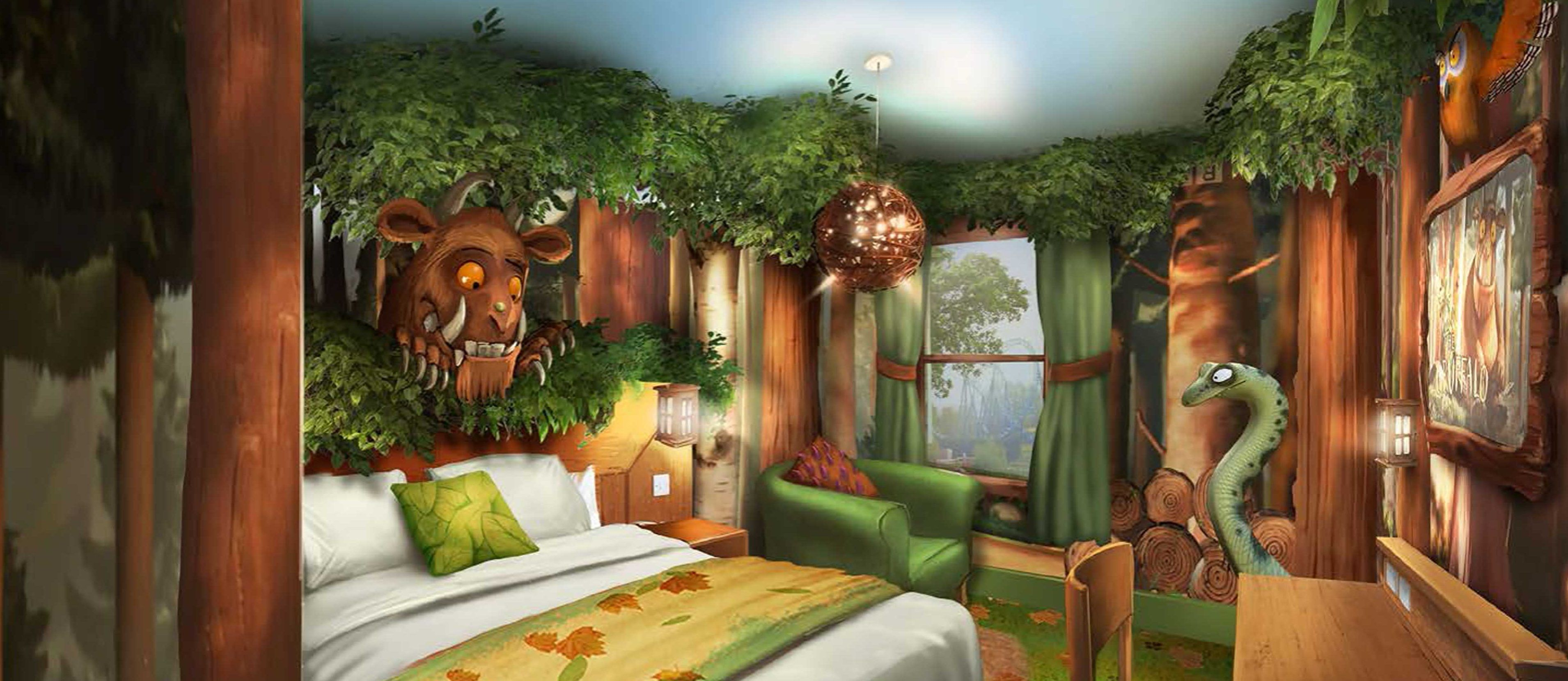 Take a sleep in the Deep Dark Wood after a day on park and riding The Gruffalo River Ride Adventure.