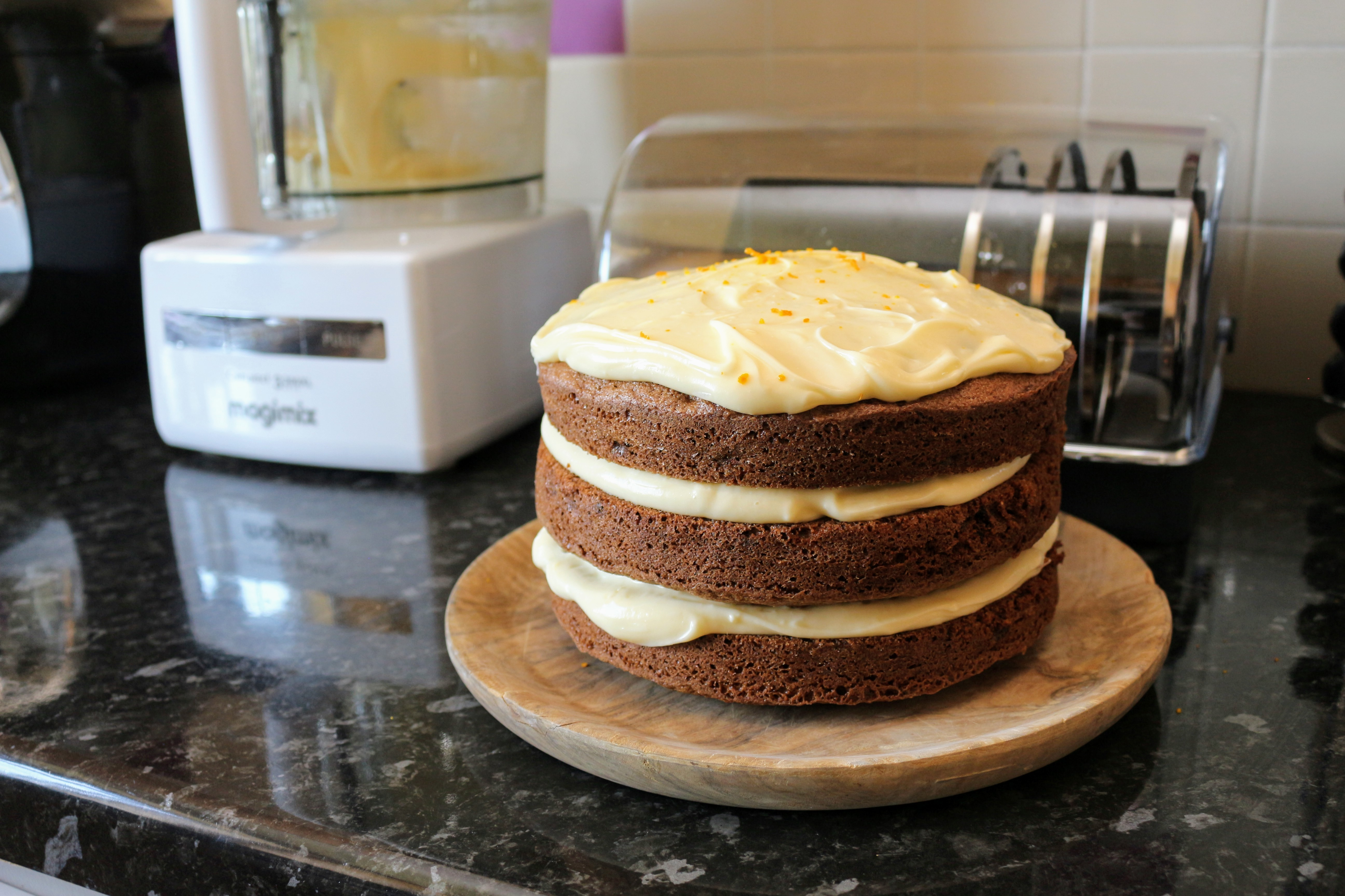 The finished Carrot Cake