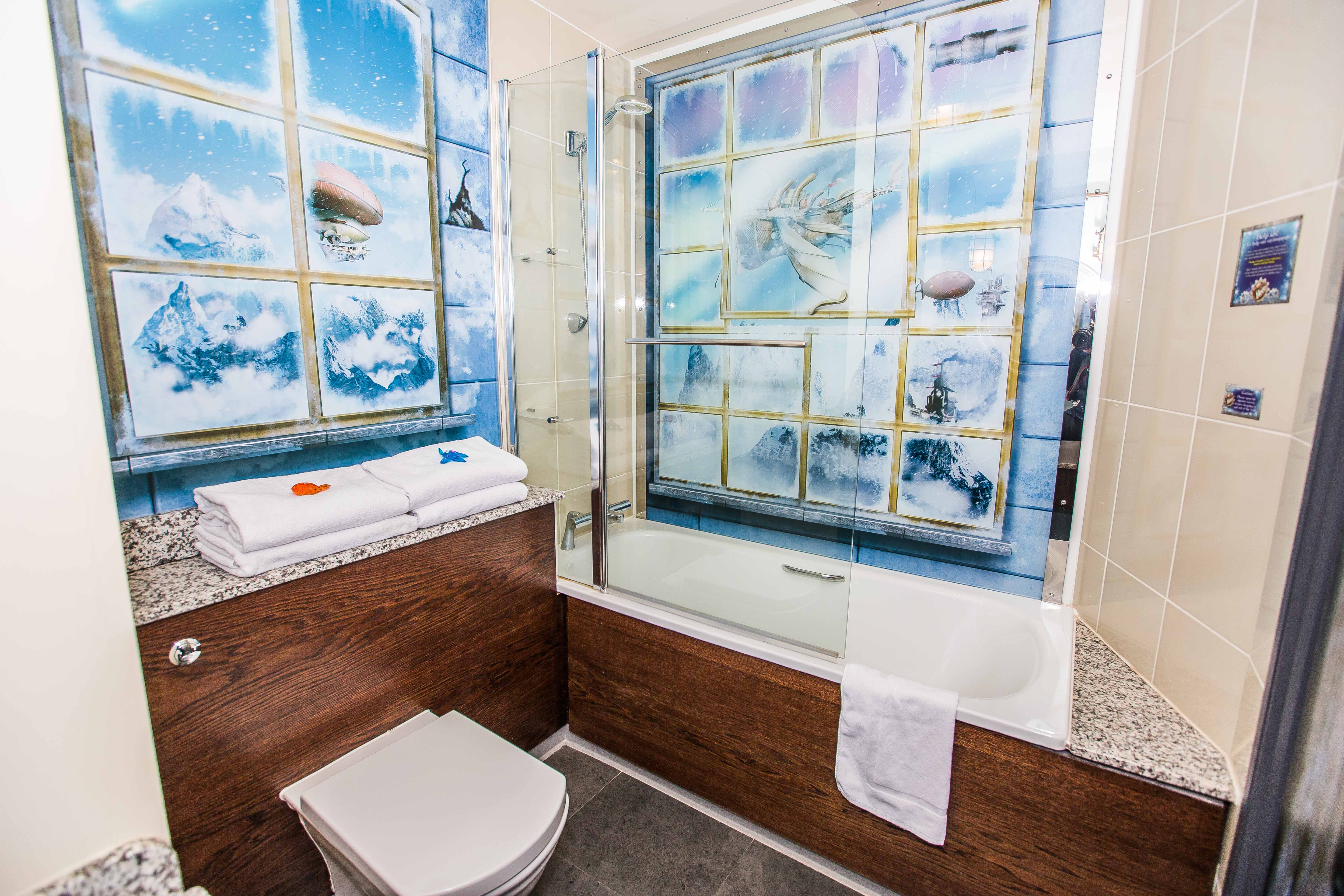 The bathroom in the Arctic Explorer Rooms