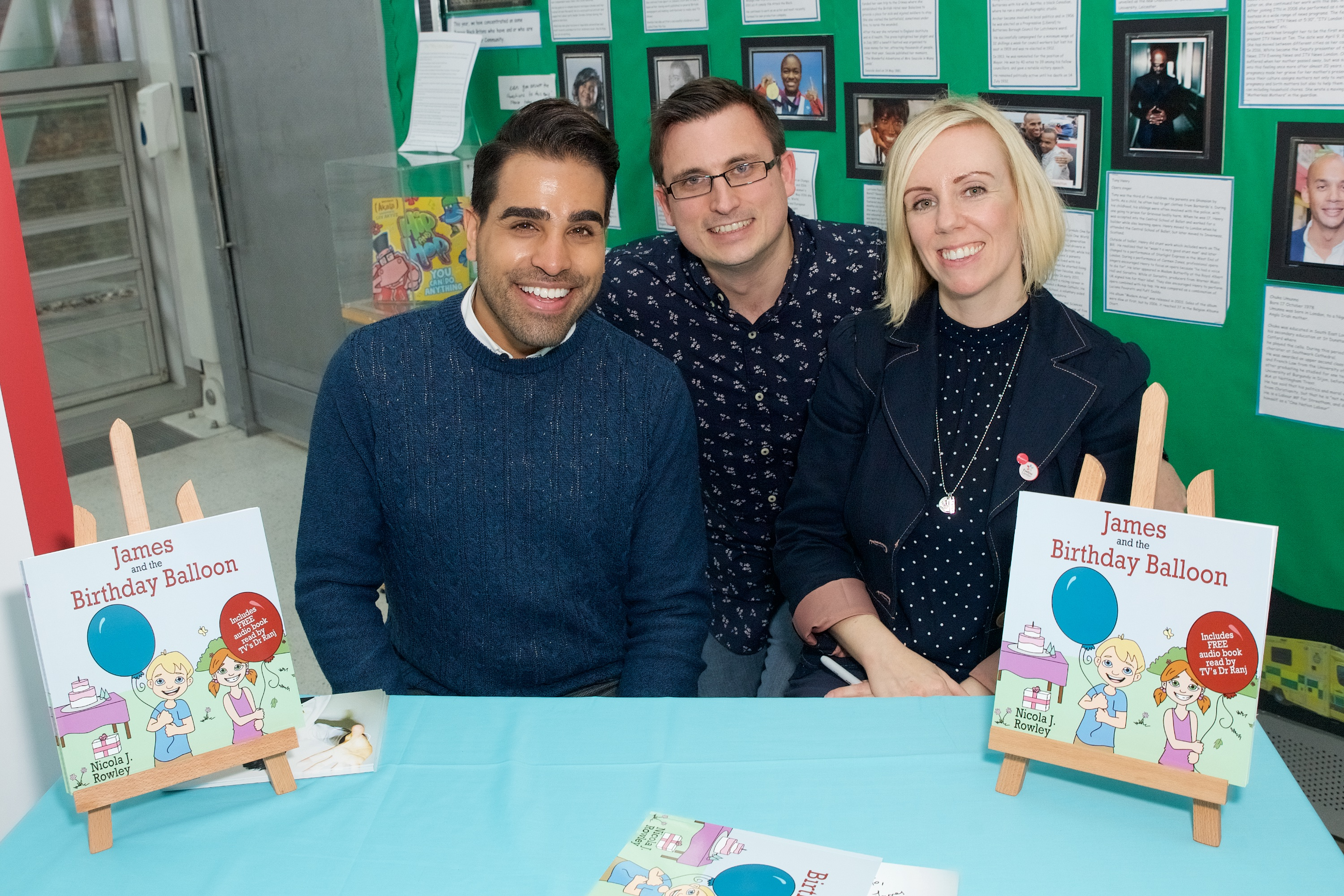 Meeting Nicola Rowley and Dr Ranj at the launch of James and the Birthday Balloon