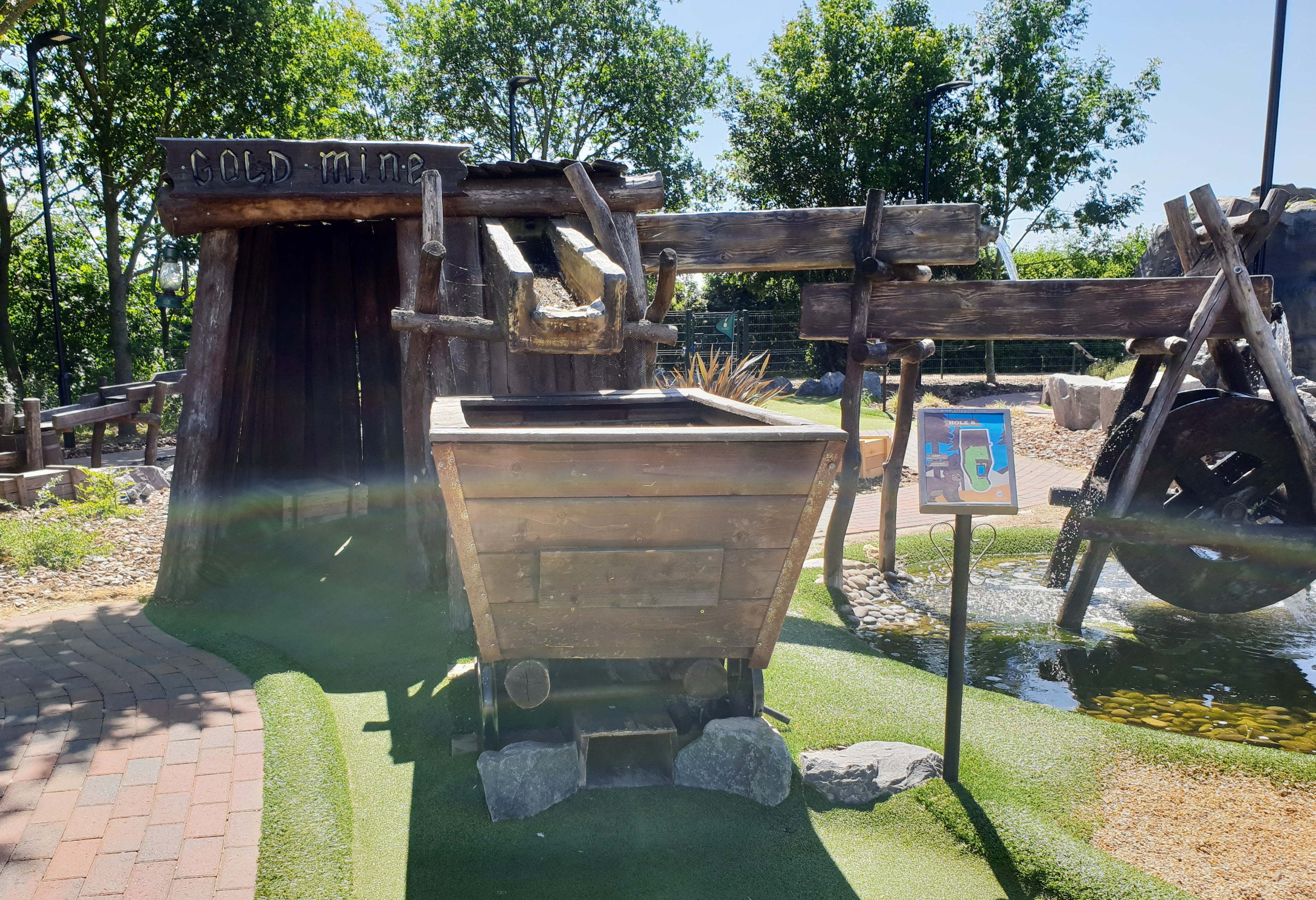 The Gold Mine Course at Bear Creek Adventure Golf.