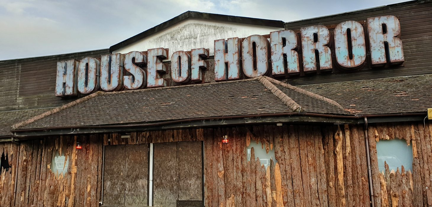 The exterior of the House of Horror