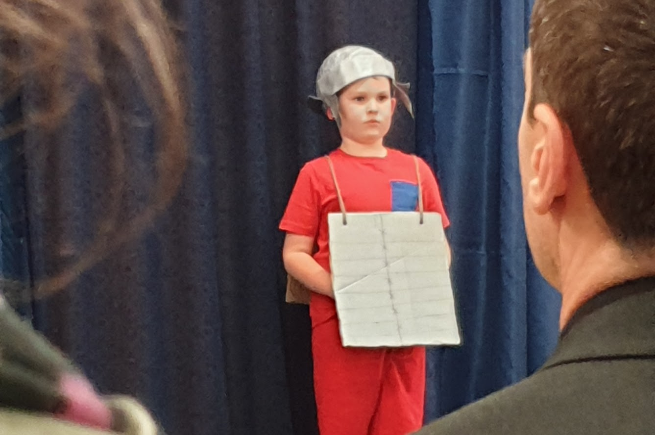 In my opinion, Soldier No. 4 was the best of ALL the 4 Soldiers in the School Nativity.
