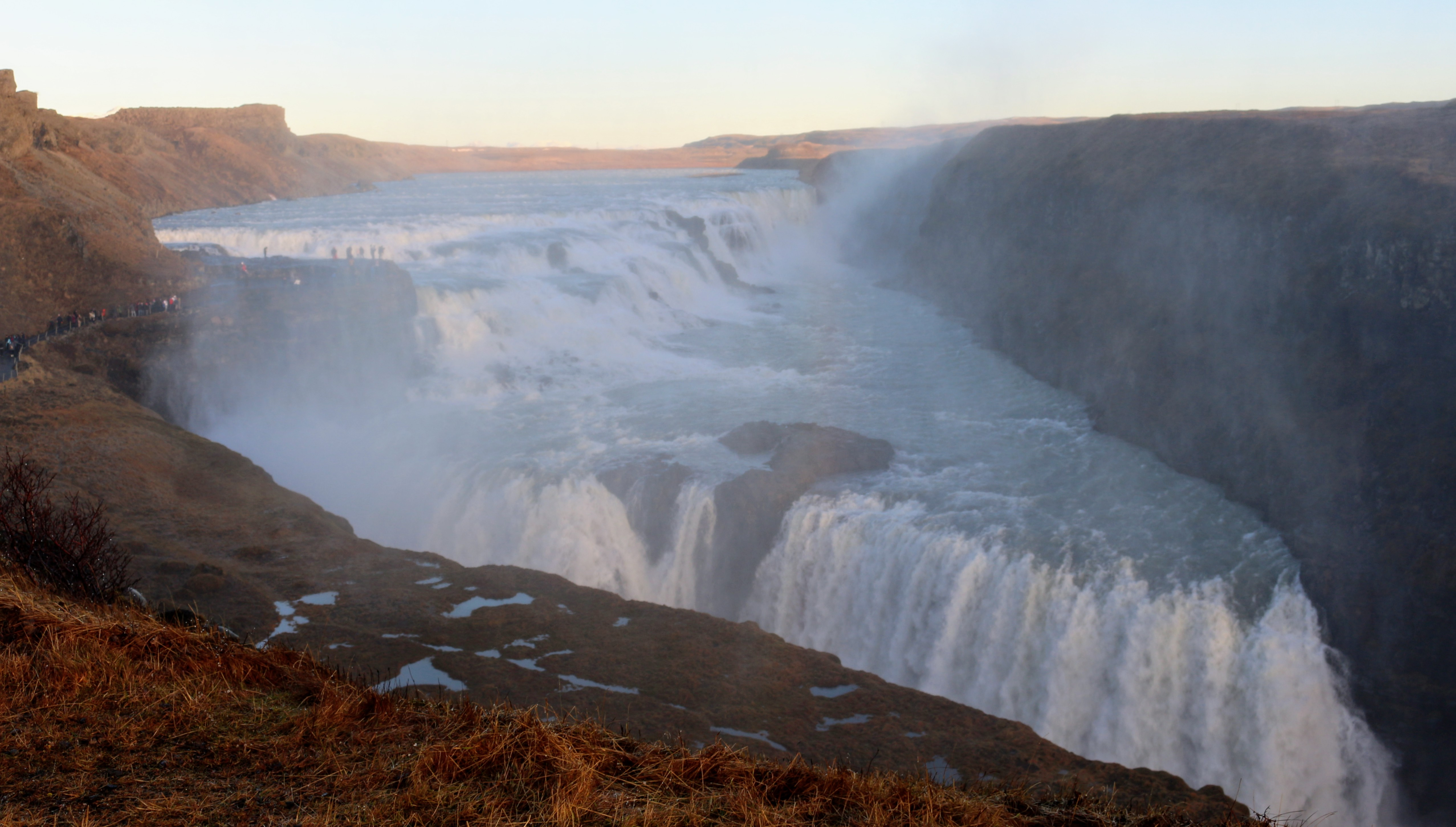 This is the incredible Gullfoss Waterfall in Iceland