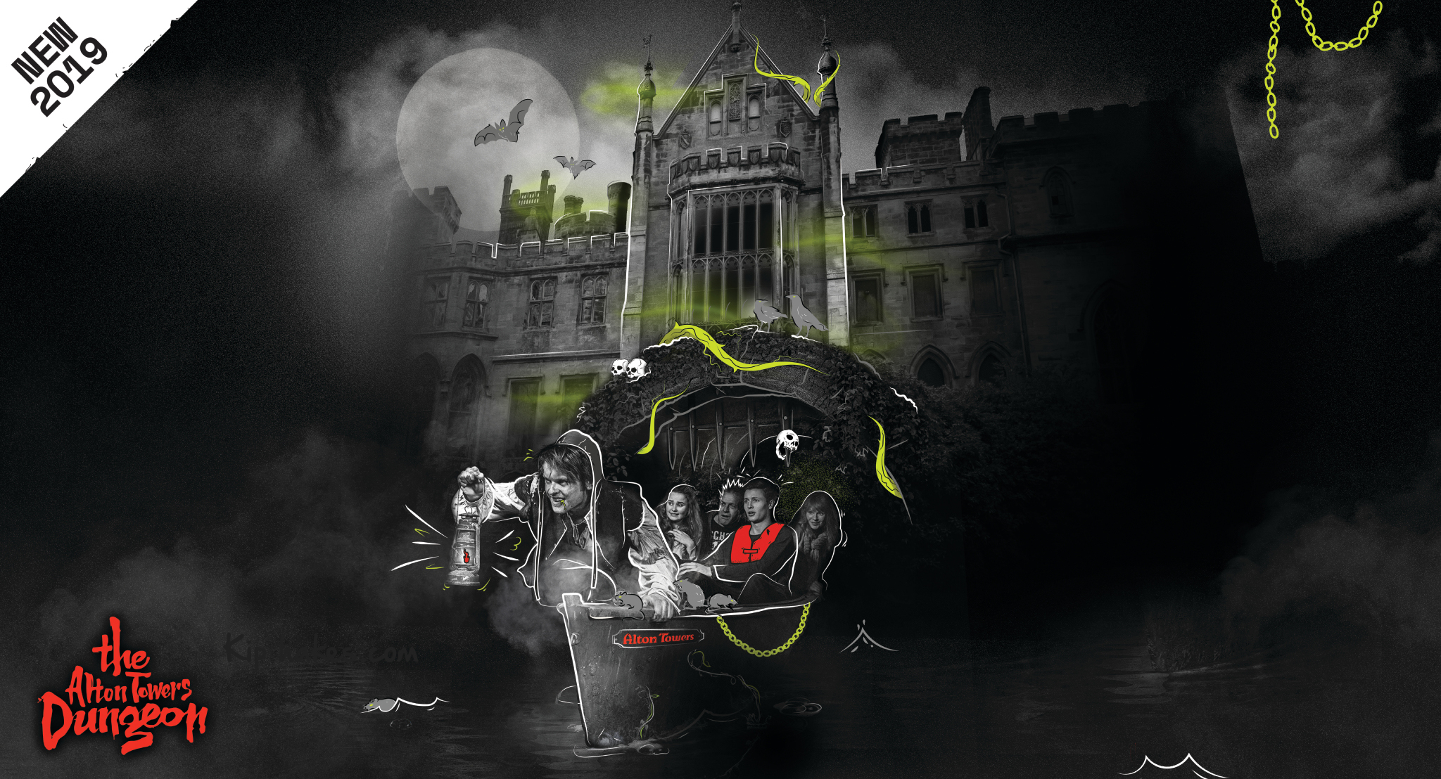 The first Image of the Alton Towers Dungeon is here!