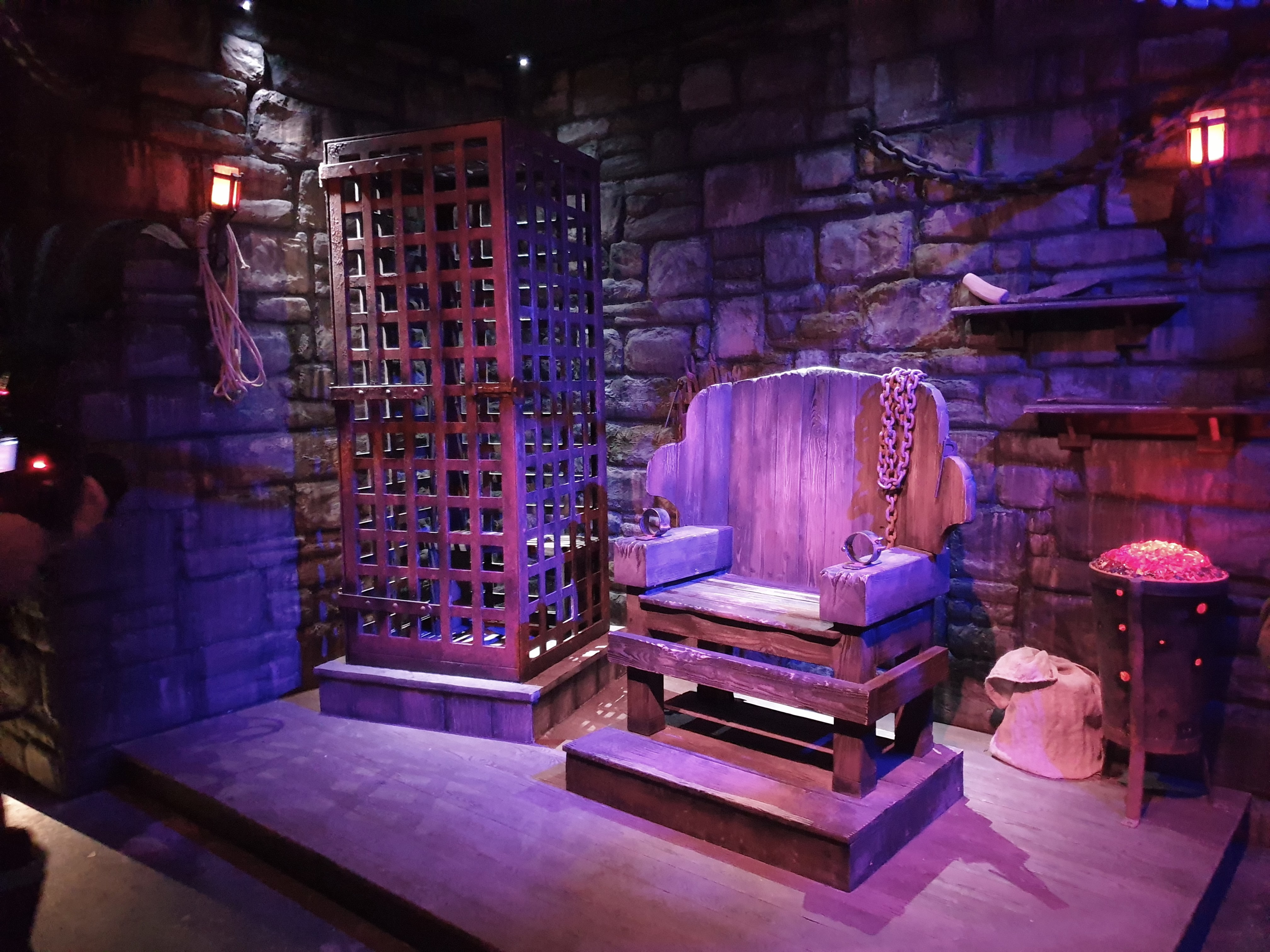 The Torturer's Scene inside the Alton Towers Dungeon